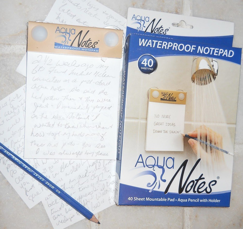 waterproof shower notepad