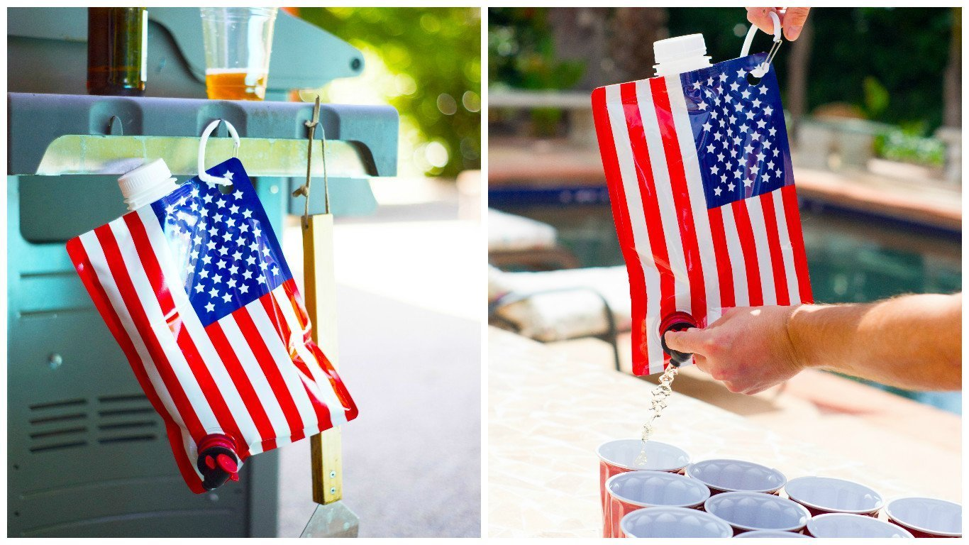 american flag liquor flask independence day gift