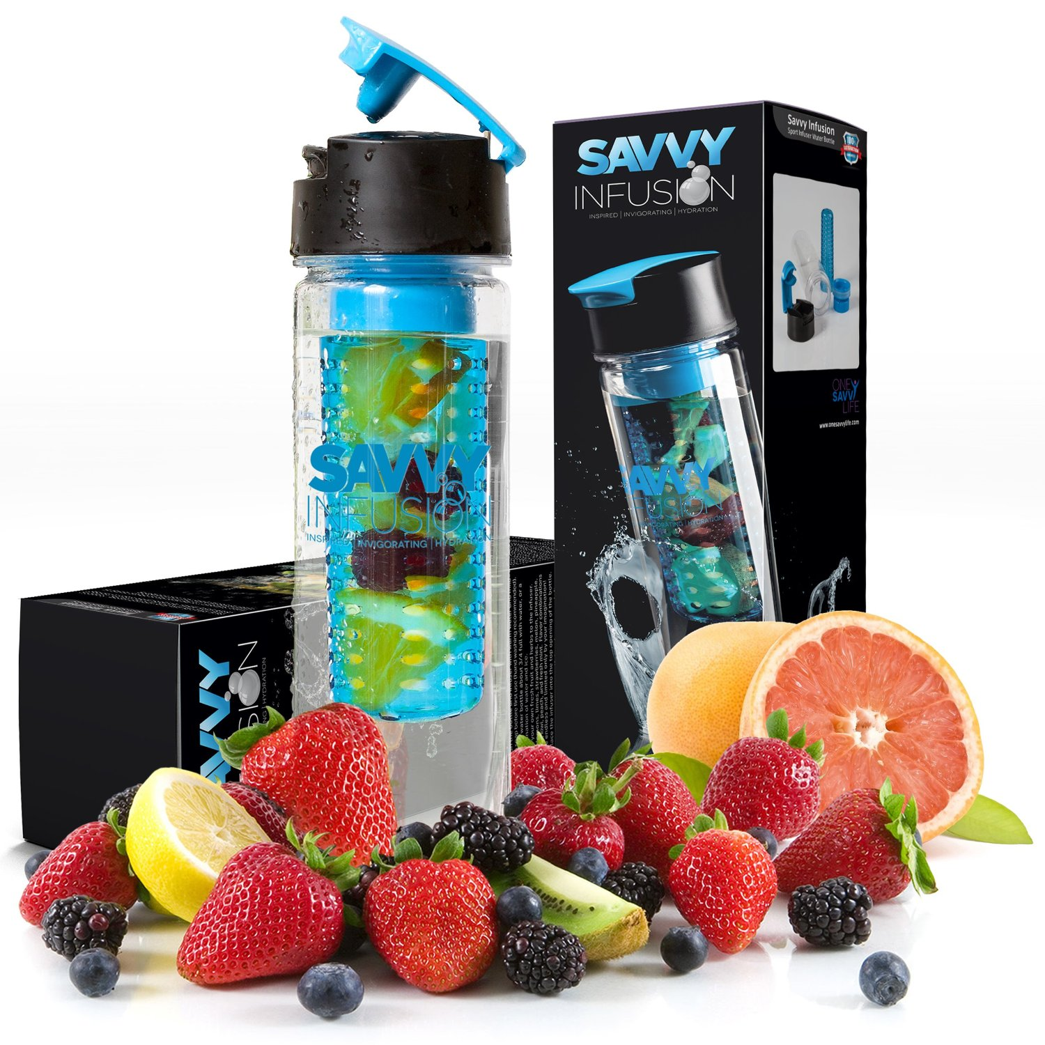 savvy fruit infusing water bottle