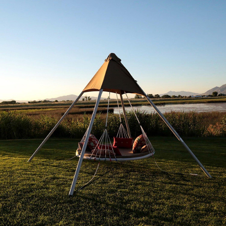 luxury garden swing bed hammock