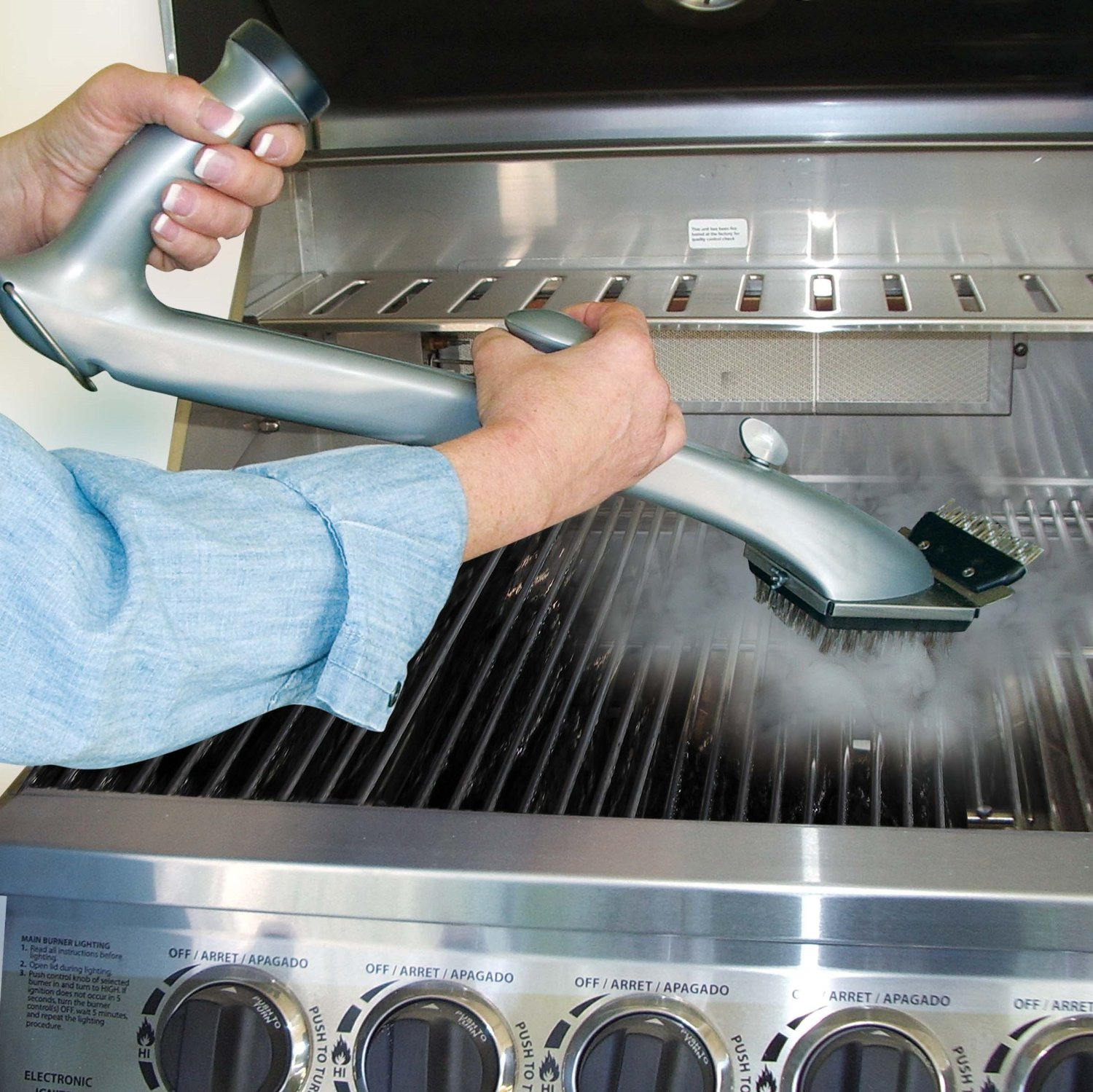 steam barbecue cleaner grill cleaner
