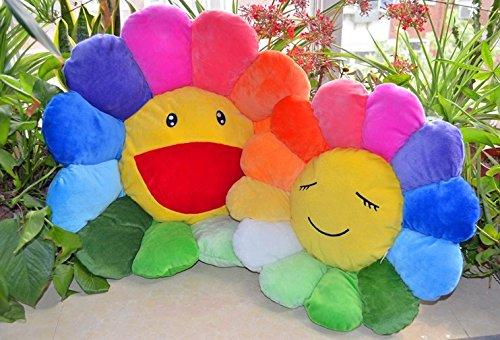rainbow sunflower cushions