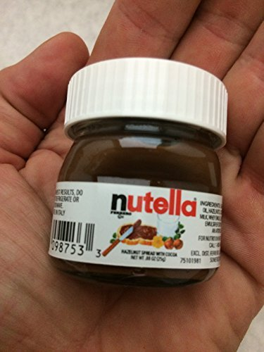 mini nutella single serve jars