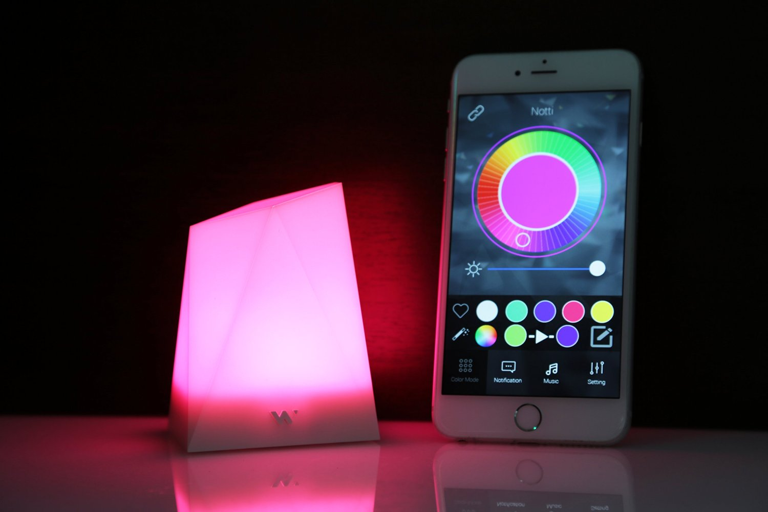 smartphone synced mood light