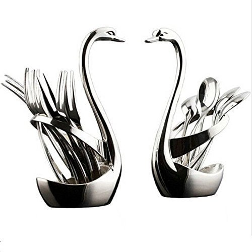swan cutlery holder