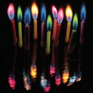 Coloured Flame Candles