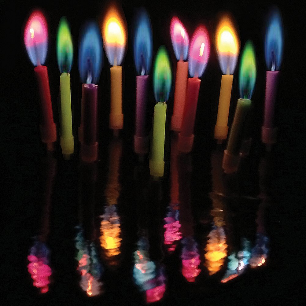 coloured flame candles colored