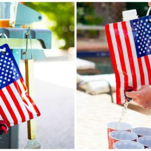 American Flag Liquor Flask